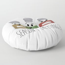 Season's Greetings | Garlic, Oregano & Paprika Floor Pillow
