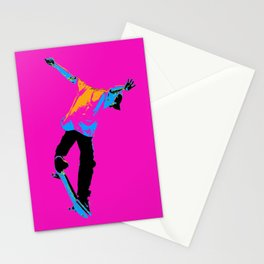 """Flipping the Deck"" Skateboarding Stunt Stationery Cards"
