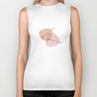 vegetable Biker Tanks featuring vegetable ribs by 1 monde à part