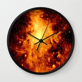 Copper Gold Orion neBula Wall Clock