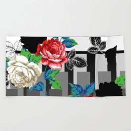 Chintz Rose Beach Towel