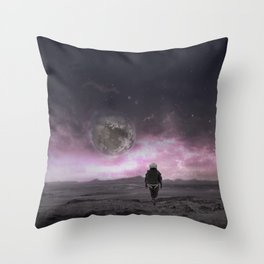 Sci-Fi collage On another planet 2 Throw Pillow