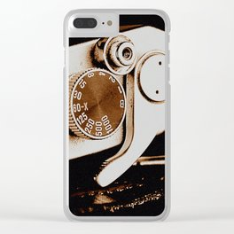 Old School Photography Clear iPhone Case