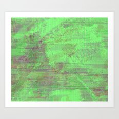 green seas of Mars Art Print