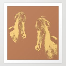 Double Pony Art Print