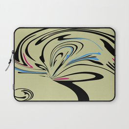 Blue and Pink Suprise Abstract Laptop Sleeve
