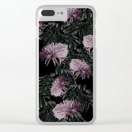 Night Floral Clear iPhone Case