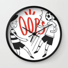 Kids kicking Ball Wall Clock