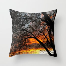 Fire in the Sky 3.0 Throw Pillow