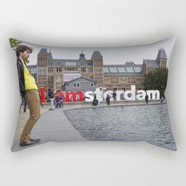 I Amsterdam Cock (Amsterdam) Rectangular Pillow