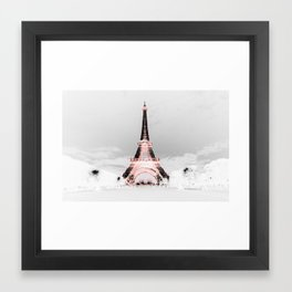 pariS Black & White + Pink Framed Art Print
