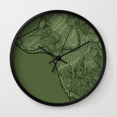 Enthusiastic Wolf Wall Clock