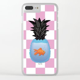 Pineapple Fish II Clear iPhone Case