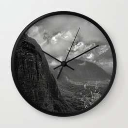 Pali Lookout View 2 Wall Clock