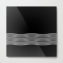 White Waves Metal Print