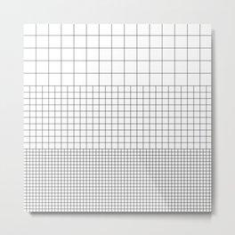 3 Grids Metal Print
