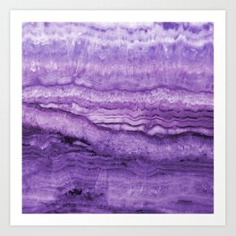 Mystic Stone Wild Violet Art Print