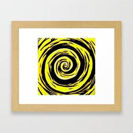 Hypnotic Yellows Framed Art Print