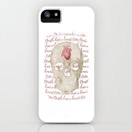 even death has a heart iPhone Case
