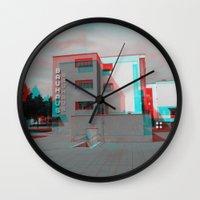 bauhaus Wall Clocks featuring Bauhaus · Das Bauhaus 2 by Marko Köppe