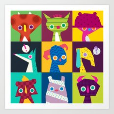 Thumbnail Monsters Art Print