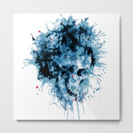 Skull Splash Metal Print