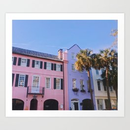 bd7a605a046 Rainbow Row in Charleston Art Print