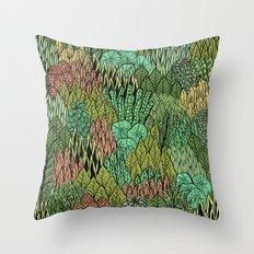April Leaves Throw Pillow