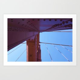 Looking Up, Walking the Golden Gate Art Print
