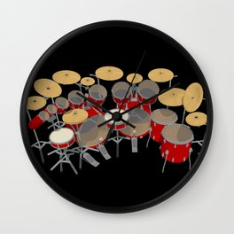 Large Drum Kit Wall Clock