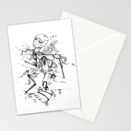 R0B0-H34RT (Robot Heart) Stationery Cards