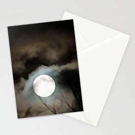 Winter Solstice Moon Stationery Cards