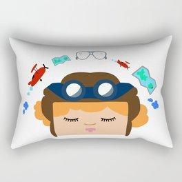 Amelia Earhart Rectangular Pillow