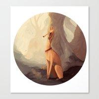 greyhound Canvas Prints featuring GREYHOUND by GentleSquid