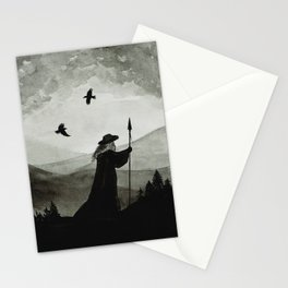 Odin, Huginn and Muninn. Stationery Cards