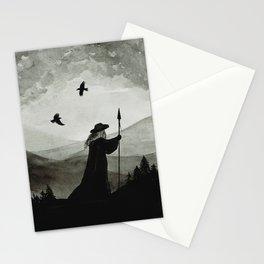 Odin, Huginn and Muninn. Stationery Cards