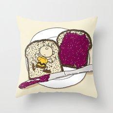 Peanut butter & Jelly Throw Pillow