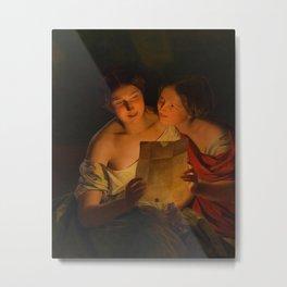 The Love Letter - Ferdinand Georg Waldmueller Metal Print