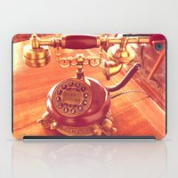 telephone iPad Cases featuring old telephone by gzm_guvenc