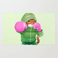 BOXING CAT 4 Rug