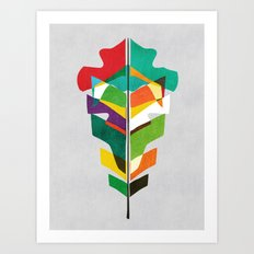 Before the last leaf falls Art Print