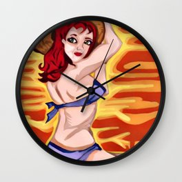 Hat In The Wind Wall Clock