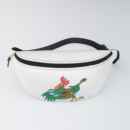 Rooster Playing Guitar Fanny Pack