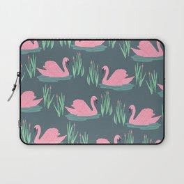 Pink Swans Laptop Sleeve