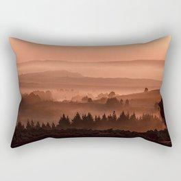 My road, my way. Brown. Rectangular Pillow