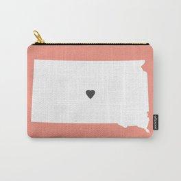 South Dakota Love in Peach Carry-All Pouch