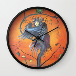 Gamaun The Prophetic Bird With Ruffled Feathers Wall Clock