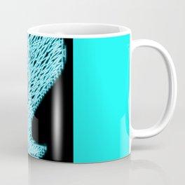 Heartless 8bit style blue neon Coffee Mug