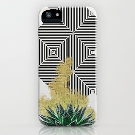 modern succulent and gold dust design iPhone Case