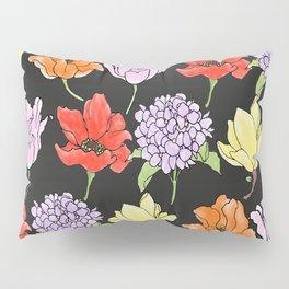 dark crowded floral Pillow Sham